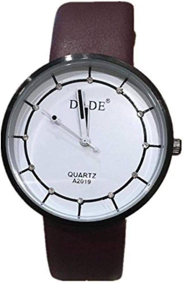 Relojes Hombre Elegantes,Relojes de Correa de Cuero para Mujer literaria de Moda Juvenil @ 3