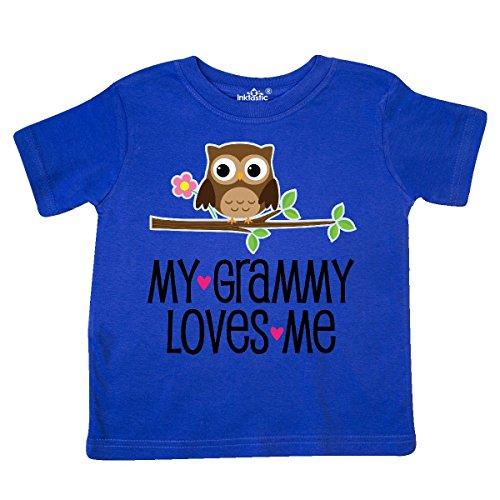 inktastic - Grammy Loves Me Grandchild Gift Toddler T-Shirt 5/6 Royal Blue 2ba61