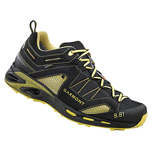 Garmont Men's 9.81 Trail Pro III GTX Shoes Black/Dark Yellow 11.5 & Cap Bundle
