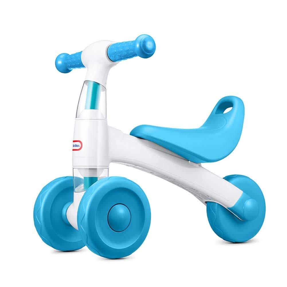Bicicletta YXX Equilibrio Bici da 1 a 3 Anni per Bambini Ragazzi Ragazze, Triciclo per Bambini 3 Ruote, Leggero, Blu verde (colore   Blu)
