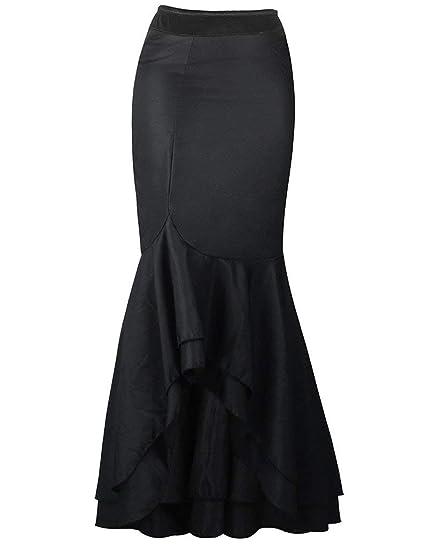 Señoras Elegantes De De La Cola Vendimia Gótica Pescado Falda Moda ...