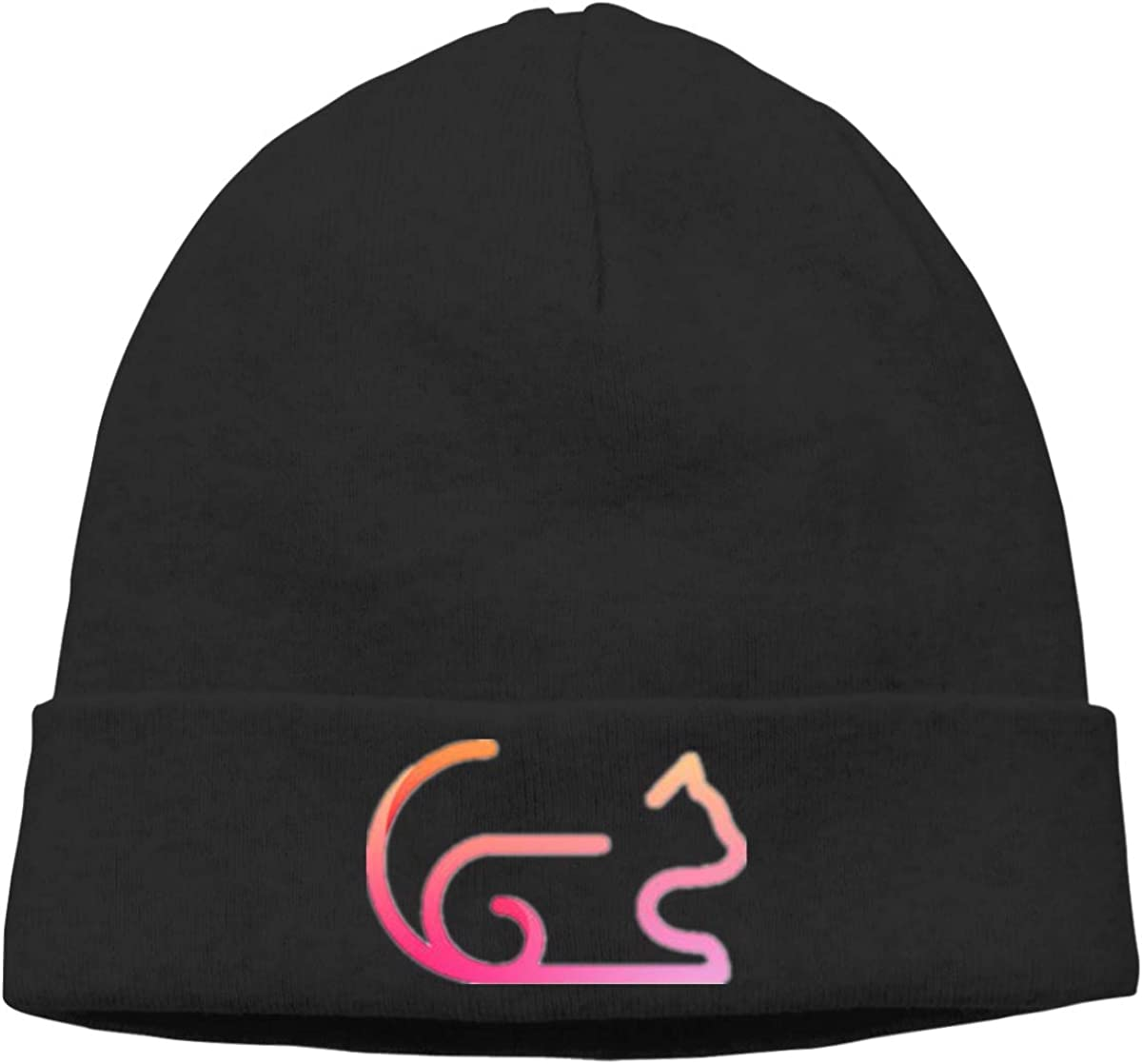Pink Cat Cap Unisex Cuffed Warm Beanie Hats Ski Slouchy Hat