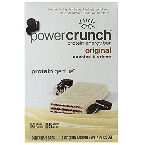 Power Crunch Protein Energy Bar Cookies & Creme - 1.4 oz bars, 5 Count