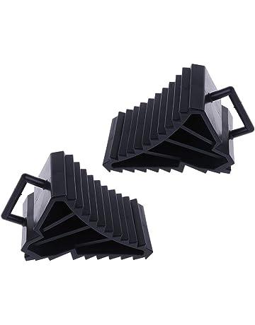 Bloque de bloqueo antideslizante para neumáticos de coche, camión, 2 unidades, color negro