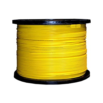 1000Ft 12 Fiber Indoor Distribution Fiber Optic Cable, Singlemode, 9/125, Yellow, Riser Rated, Spool