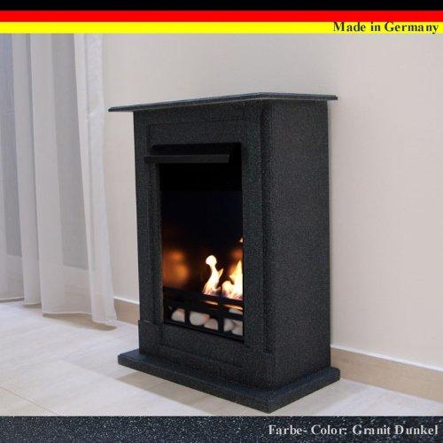 Ethanol und Gelkamin Modell Madrid Premium - Wählen Sie aus 9 Farben (Granit dunkel)