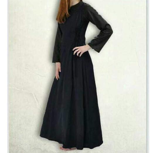 Mujeres Vestido Largo Vintage Cuello Redondo Traje Medieval Mujer ...
