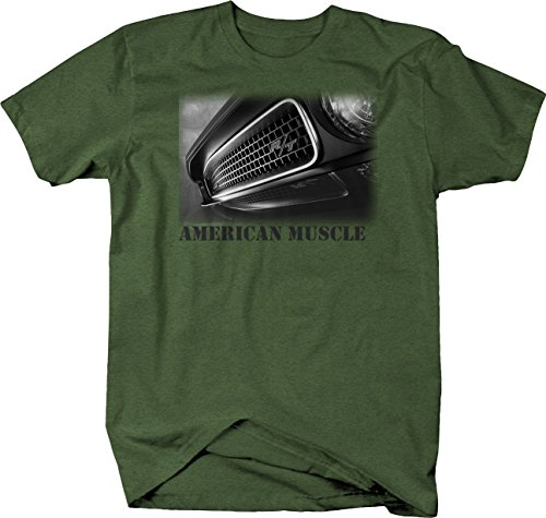 Retro - American Muscle Dodge R/T Charger Challenger Tshirt - Medium Heather Military Green