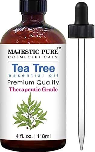Majestic Pure Therapeutic Melaleuca Alternifolia Tea Tree Oil With Dropper, 4 fl. Oz