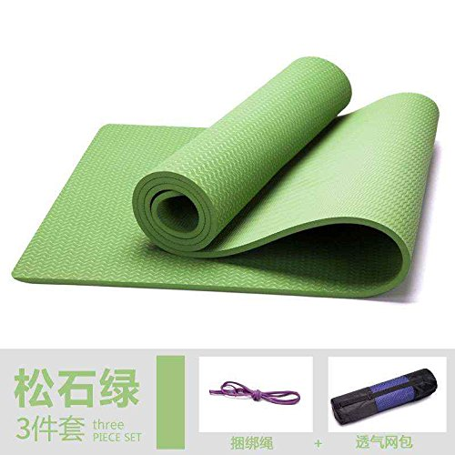 8mm Turquoise  YOOMAT 183cm  61cm Tapis de Yoga pour Coussin Sport, Tapis de Yoga, Fitness Mat Mat TPE