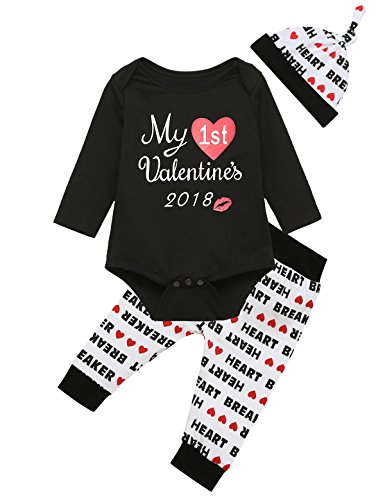 ntine's Day Baby Boys' Outfit Set Romper Creepers Clothes (6-12 Months) (Child Outfit)