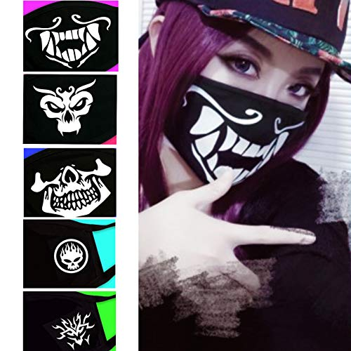 eKoi Cool Black Korean Skeleton Skull Akali Soft