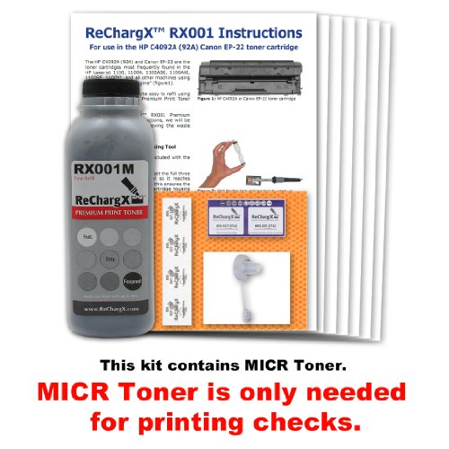3200 Micr Toner (HP Laserjet 3200M MICR Toner Refill Kit - Only needed if you are printing checks)