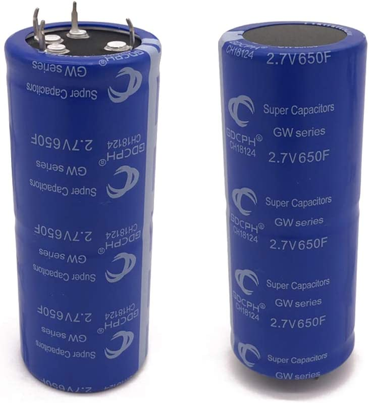 JSMH 2.7V 360//400//500//650F Super Farad Capacitor Low ESR Ultracapacitor Power Supply DIY Accessory