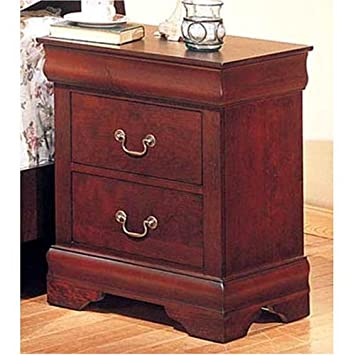 Coaster Louis Philippe Style Night Stand Cherry Finish
