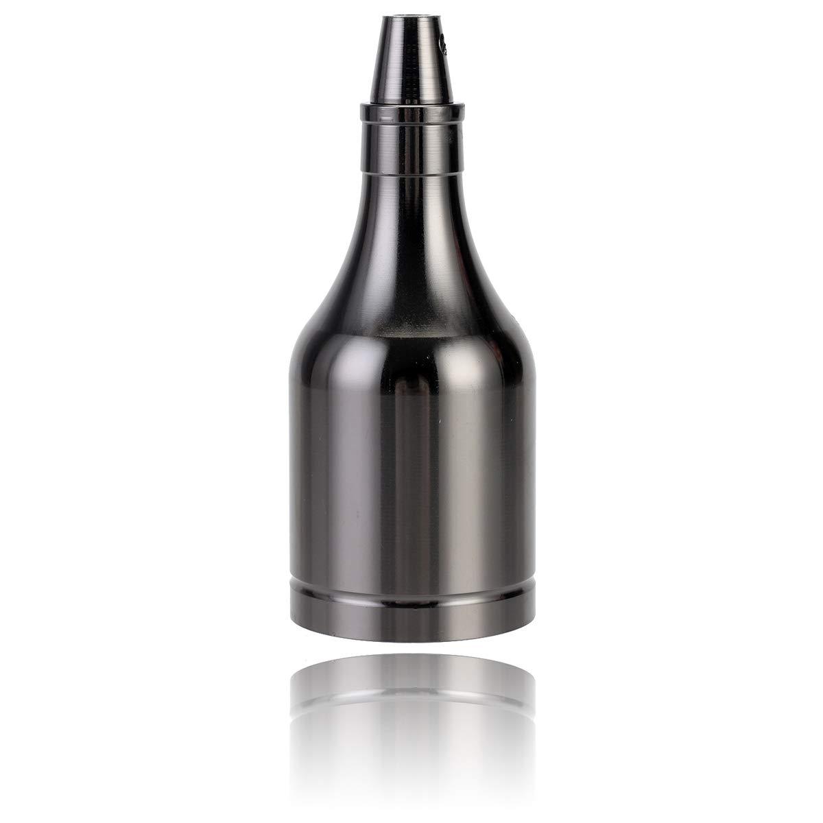 6X Noir GreenSun LED Lighting Bouteille Style Edison E27 Titulaire Douille Socket Lampes Prise R/étro En Aluminium Support pour Pendentif Lumi/ère Plafond Lampe DIY Adaptateur Accessoires D/éclairage