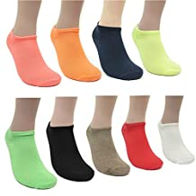Women's Comfort No-Show Athletic or Casual Ankle Socks( Value Pack of 5,10, or 15 pairs)