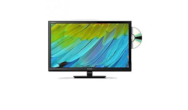 Televisor LED Sharp lc-24dhf4011e – HD 24 (61 cm) – 1366 x 768 píxeles, – TDT y cable HD – HDTV – USB – 100 Hz – Reproductor de DVD: Amazon.es: Informática