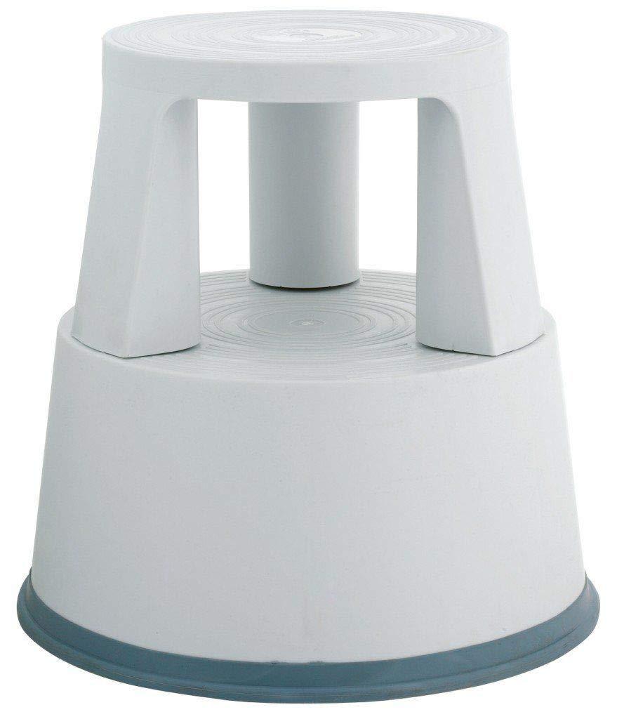 Q-Connect KF01003 Rollhocker aus Kunststoff lichtgrau