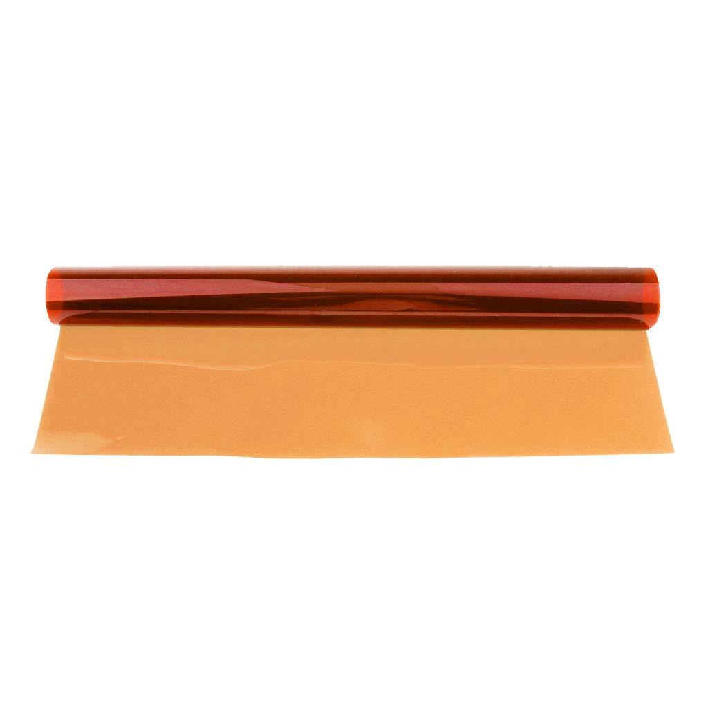 Baoblaze Filtre de Couleur de Gels de Papier 40 Rouge 50cm pour L/éclairage D/étape Lumi/ère de Rouquin