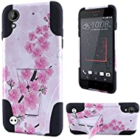 HR Wireless Cell Phone Case for  HTC Desire 530 - Retail Packaging - Sakura Cherry Blossom Exotic Floral