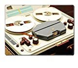 Luxlady Placemat reel to reel tape recorder IMAGE 24178478 Customized Art Home Kitchen