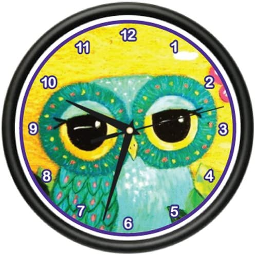 Cute OWL Wall Clock Girly owl Wide Eye Cute Adorable Nocturnal Birds Gag Gift