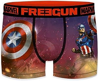 FREEGUN Boxer Gar/çon Marvel Captain America Rouge