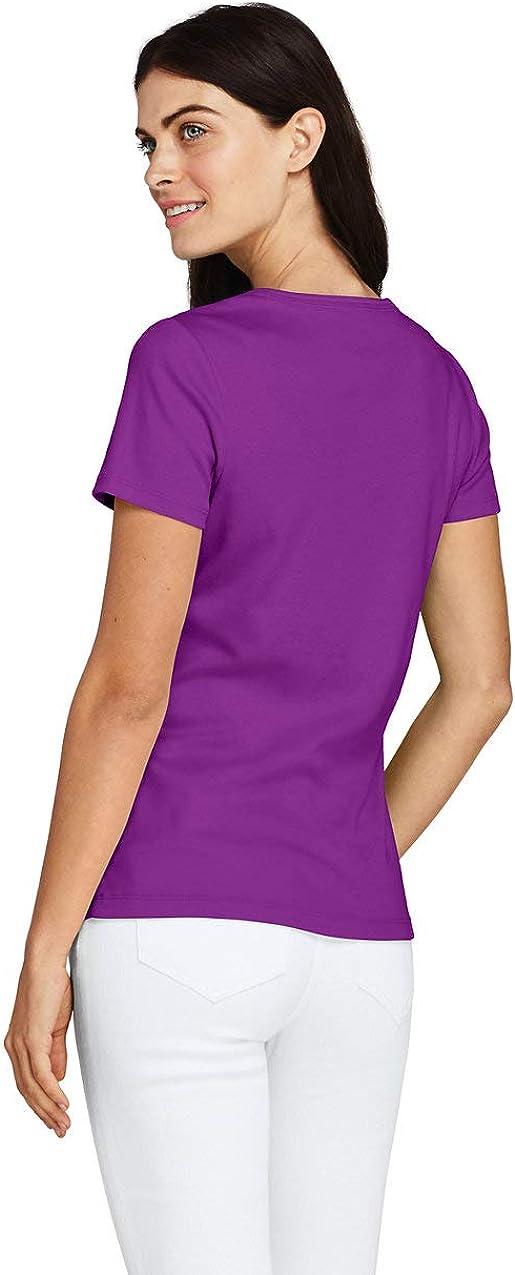 Lands End Womens All Cotton Short Sleeve Crewneck T-Shirt
