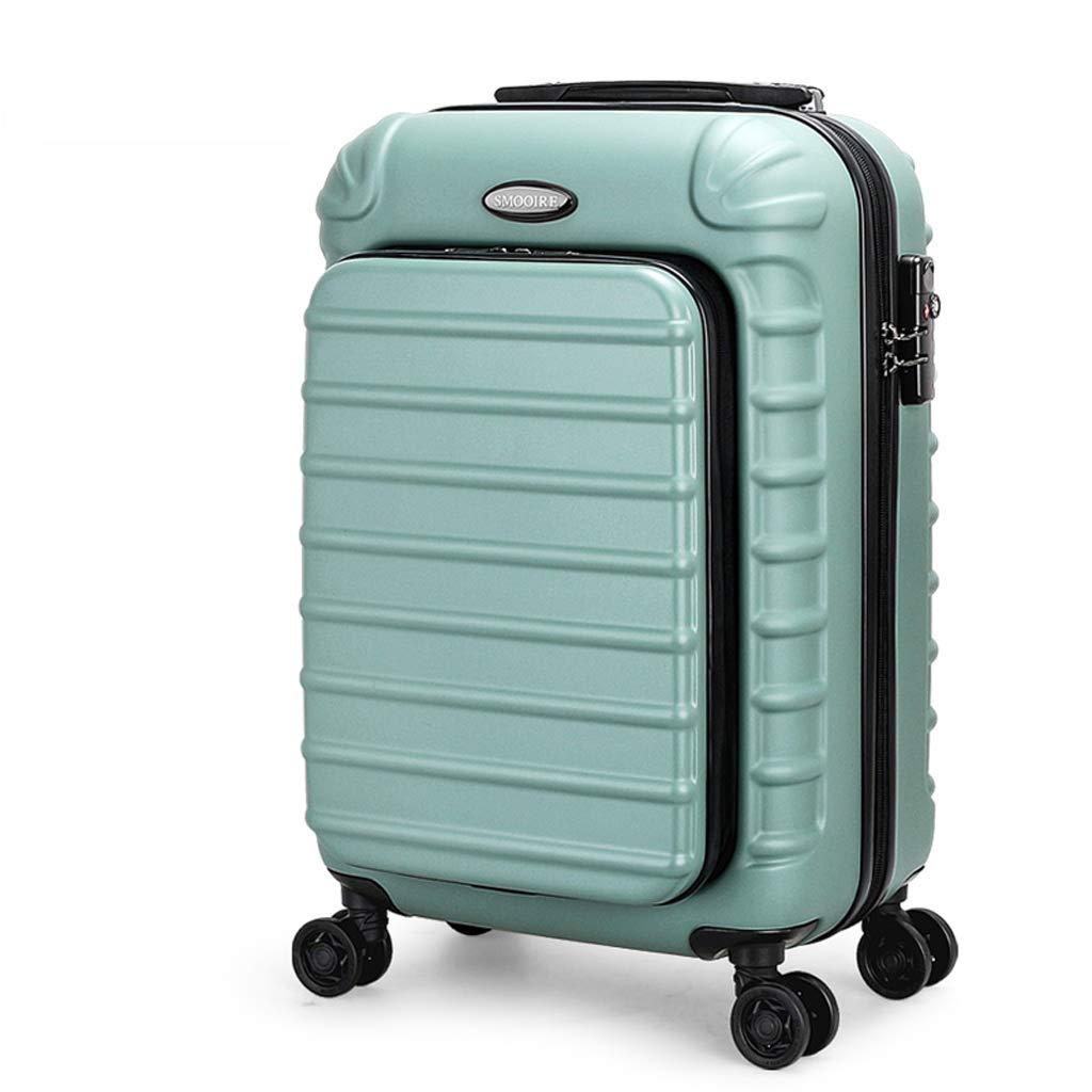 PCビジネストローリーケースコンピュータ荷物ボックスコンピュータバッグユニバーサルホイール搭乗シャーシスーツケース (色 : Green, サイズ さいず : 24 inches) 24 inches Green B07L6F15PP