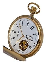 BN24104 - Gold Plated - Full Hunter - Skeleton Movement - Roman Dial - White Dial