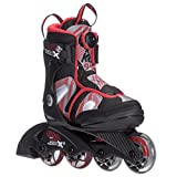 K2 Skate Boy's Sk8 Hero X Boa Inline Skates, Black/Red, 1-5