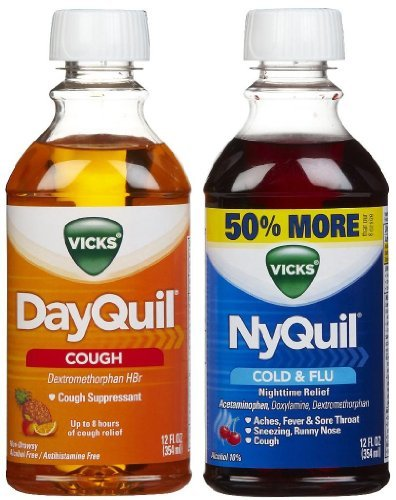 Vicks DayQuil and NyQuil Cough Relief Liquid (Pack of 8)