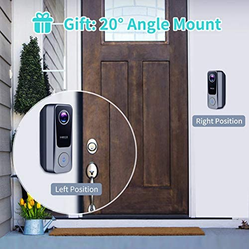 WiFi Video Doorbell Camera, MECO 2K 3MP Doorbell Camera with Chime, 2-Way Audio, 32GB SD Card, Work with Alexa & Google Assistant, Easy Installation Existing Doorbell Wiring or Provided Adapter