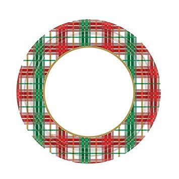 Hannah K. Christmas 16-Pack Plaid Round Paper Plates 7-Inch  sc 1 st  Amazon.com & Amazon.com: Hannah K. Christmas 16-Pack Plaid Round Paper Plates 7 ...