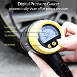Air Compressor, Portable Cordless Tire Inflator for Car, Ansteker 2000mAh 150PSI Hand Held Tire Pump with Digital Pressure Gauge, Built in LED Light (Cordless air compressor)