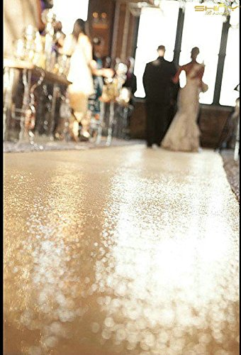 ShinyBeauty 4FTX100FT-Aisles Runner-Champagne,Sequins Carpet Runner,Shiny Wedding Ceremony Decor