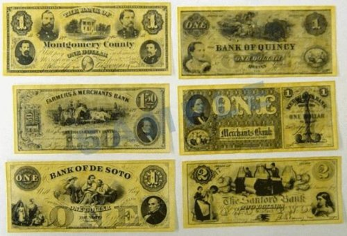 (Union Civil War Currency Dollars Reproduction Replica)