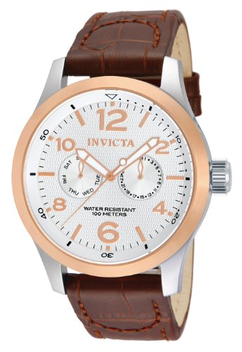 Invicta Men's 13010 I-Force Stainless Steel Watch with Brown Leather Band
