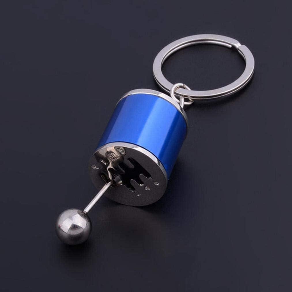 Kreative Autoteil Modell Getriebe Metall Schl/üsselanh/änger Schaltgetriebe Schalthebel Keyring Schwarz