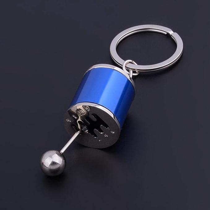 Vektenxi Lustige Schaltknauf Schalthebel Schalthebel Getriebe Metall Schlüsselanhänger Schlüsselanhänger Auto Schlüsselanhänger Geschenk Blau Langlebig Und Praktisch Küche Haushalt