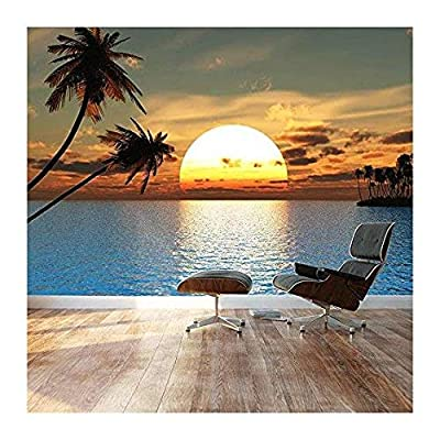 Large Wall Mural Beautiful Tropical Scenery Landscape Palm...