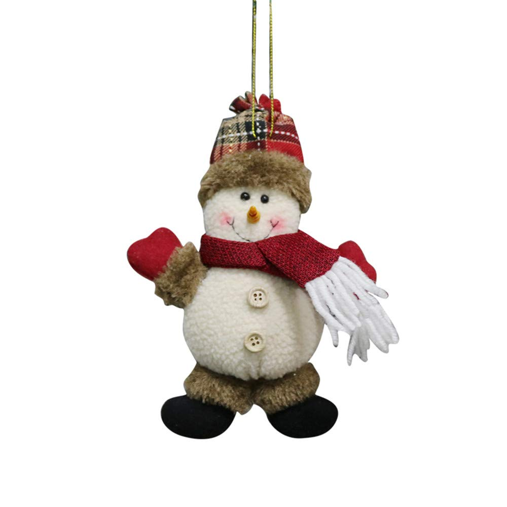 PENGYGY Christmas Ornament Santa Snowman Reindeer Toy Doll Hang Party Decoration Home Decoration