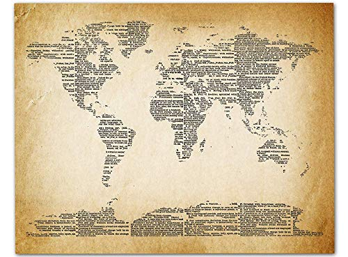 Map of the World Wall Art, 11