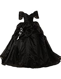 Exceptionnel Vintage Black And White Ball Gown Off Shoulder Gothic Victorian Wedding  Dresses