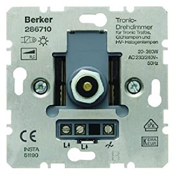 Berker 286710 Tronic-Drehdimmer Haus: Amazon.de: Baumarkt