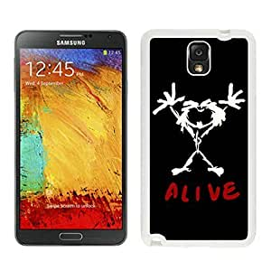 Durable Case pearl jam alive For Case Samsung Note 3 Cover in White