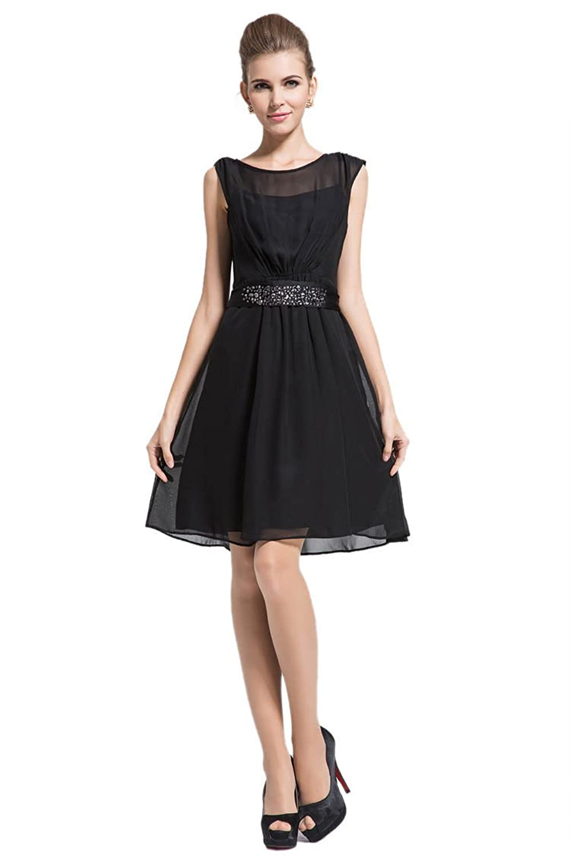 Purpura Erizo Womens Black Sleeveless Bodycon Chiffon Pleated Dress