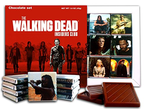 Candy Magnet (DA CHOCOLATE Souvenir Candy THE WALKING DEAD Chocolate Gift Set Famous TV series design 5x5in 1 box (Red Prime))