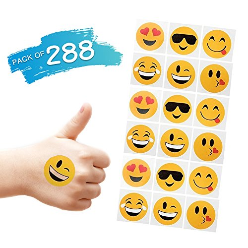 288 Temporary Emoji Tattoos (2